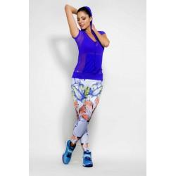Tono a Tono Fanciful Floral Print Legging